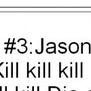 Top 5 fave horror killer lines.