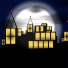 City by night..