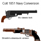 Colt 1851 Navy Conversion:  Mine and Streetin's