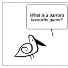Joke about parrot