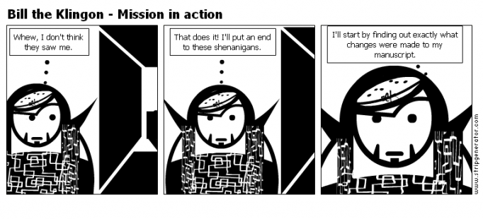 Bill the Klingon - Mission in action