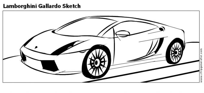Stripgenerator Com Lamborghini Gallardo Sketch