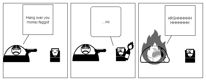 Mugger vs Fire
