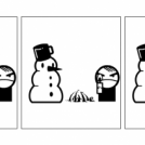 Snowman VS Boy