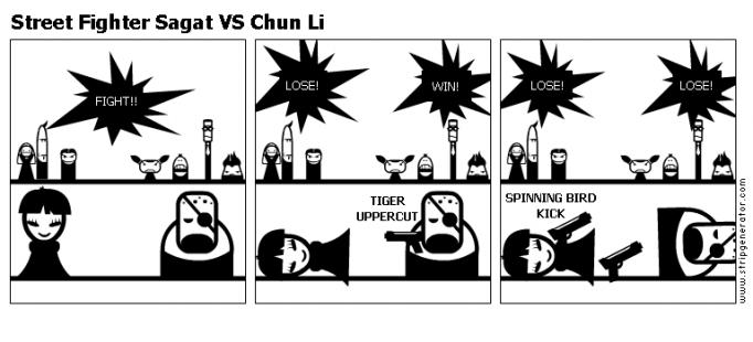 Street Fighter Sagat VS Chun Li