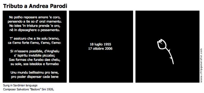 Tributo a Andrea Parodi