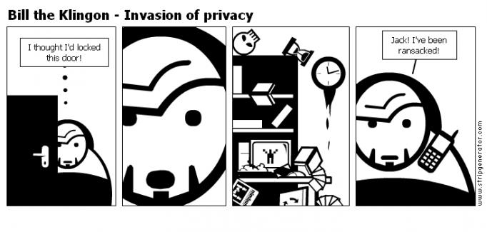 Bill the Klingon - Invasion of privacy