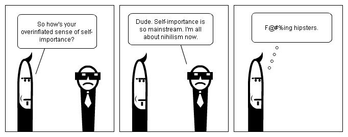 Stripgenerator.com - Metalhead vs. Hipster