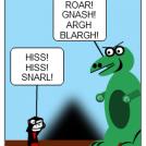 T-Rex vs. Dracula Round Three