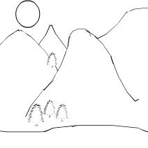 Simplistic Mountain Drawing