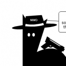 some certain critter with a hat with NWO on it