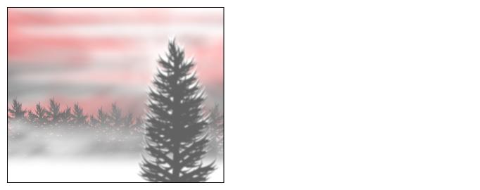 Hazy winter landscape