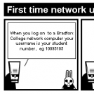 First time network user short