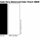 Ultimate Very Advanced Color Chart: B&amp;W