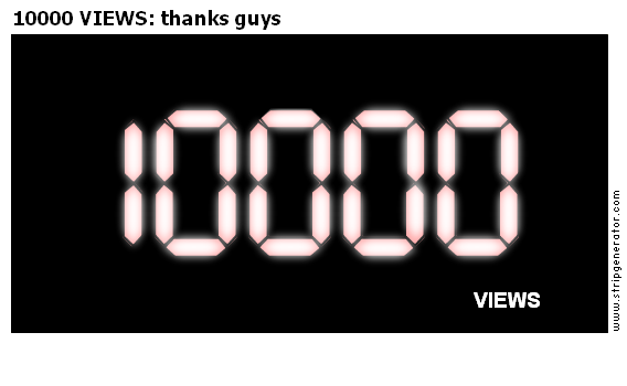 10000 VIEWS: thanks guys