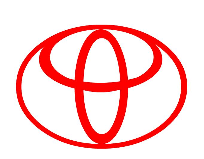 toyota logo red. toyota logo red