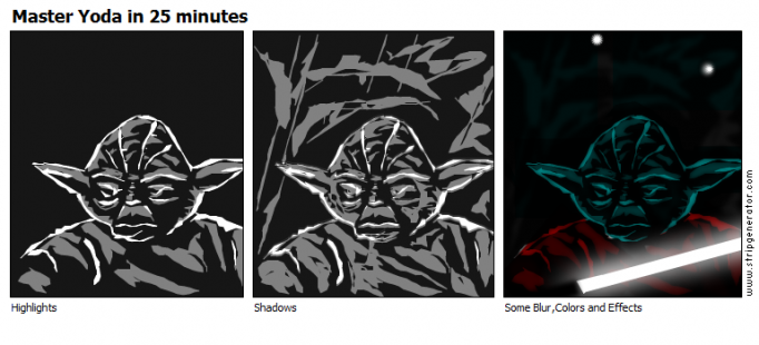 Master Yoda in 25 minutes