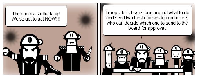 A corporate in war