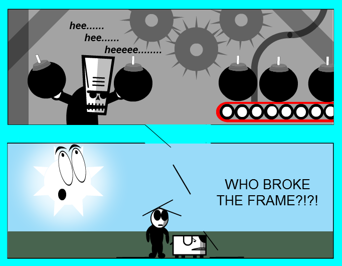 Broken frame test