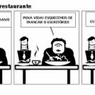 Dois advogados no restaurante
