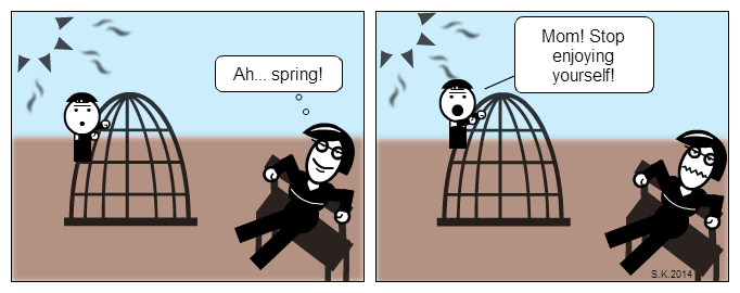 Kid cartoon: Sunny day at the playground
