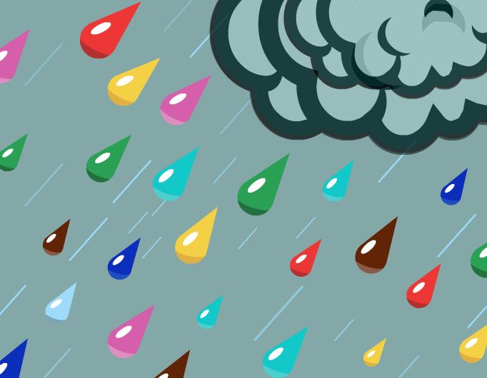 Raining colours