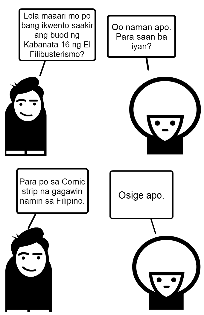 strips comic El filibusterismo