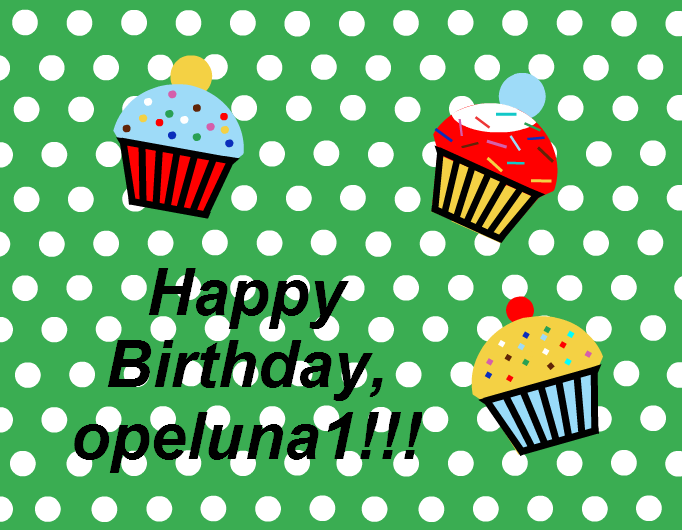 Happy Birthday, opeluna1!