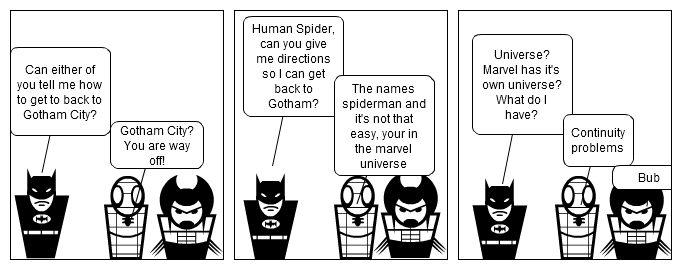 Batman got lost