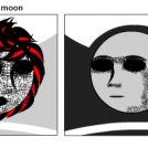 The sun and the moon make me think