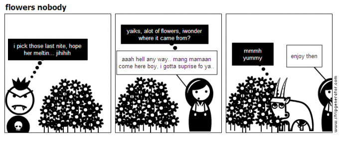 flowers nobody