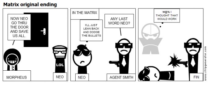 Matrix original ending