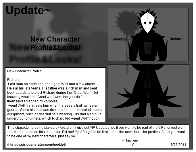 Comic Inc. TAOR:Update6/28/11New Profile Richard