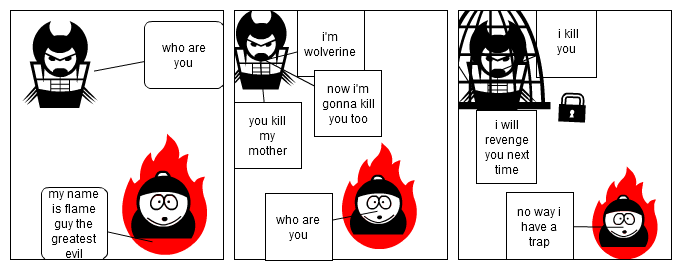 wolverine vs flame guy part 1