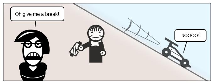 Cartoon: Break vs brake