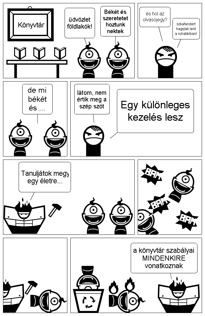 A knyvtr szablyai