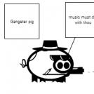 gangster pig
