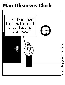 Man Observes Clock