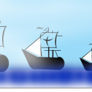 three caravels