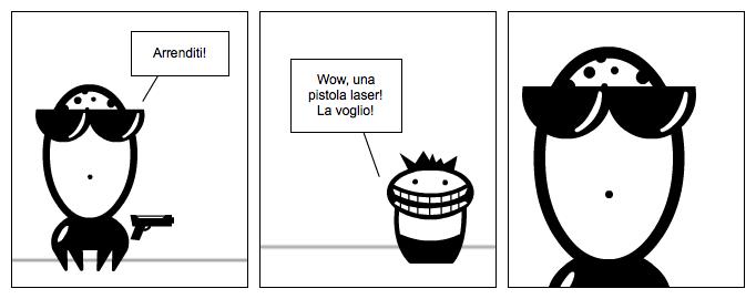 La pistola laser