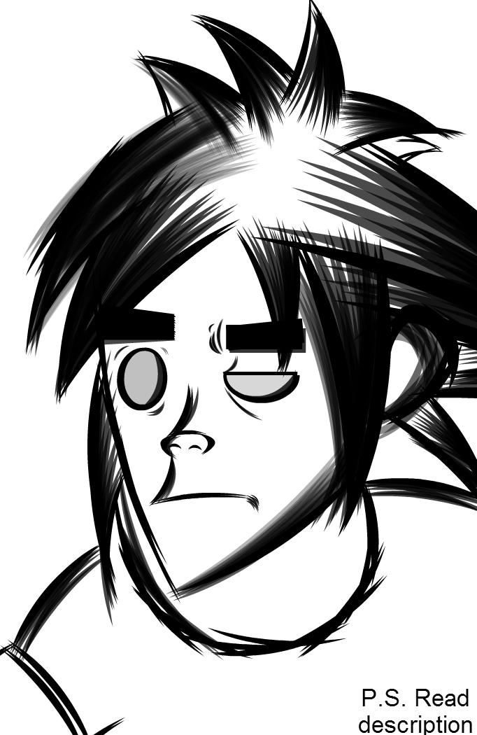 Gorillaz 2D Sketch - Detective