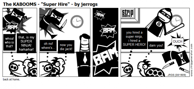"The KABOOMS - ""Super Hire"" - by jerrogs"