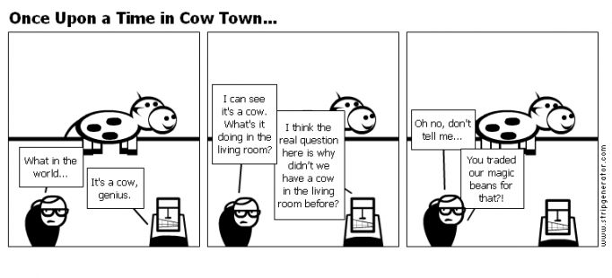 Once Upon a Time in Cow Town...