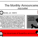 The Monthly Announcement: July