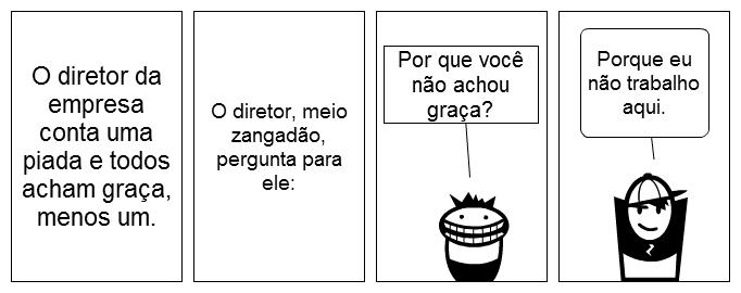 tirinha conta outra diretor da empresa