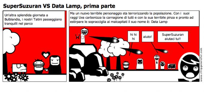 SuperSuzuran VS Data Lamp, prima parte