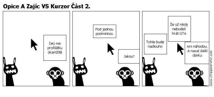 Opice A Zajíc VS Kurzor Část 2.