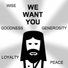 "Jesus ""We Want You"" Poster"