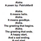 Aloha: A Poem I Wrote