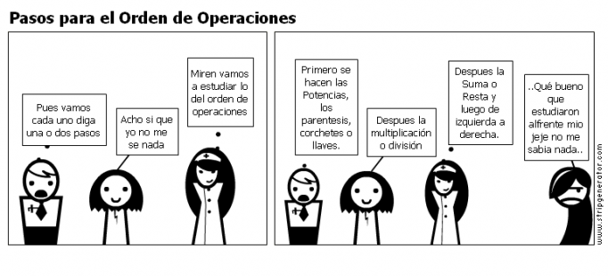 Pasos para el Orden de Operaciones
